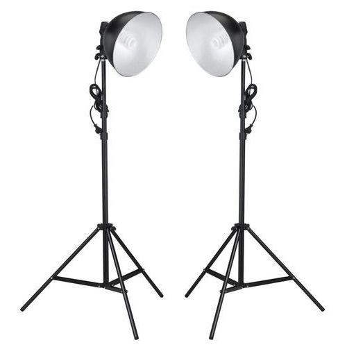 vidaXL Lampy studyjne z kloszem odbijającym i statywem, 24 W