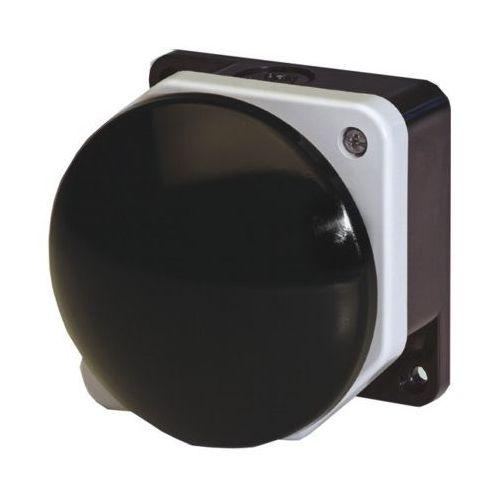 Giovenzana Przycisk dłoniowy fi 90mm czarny obudowa szaro-czarna 1no ip66 pg8m9w10
