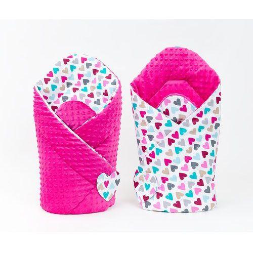 MAMO-TATO Zabawka Dwustronny Rożek minky dla lalek Kolorowe serduszka / fuksja