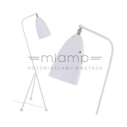 Italux Stojąca lampa podłogowa levigne mle3058/1-wh  metalowa oprawa na trójnogu biała