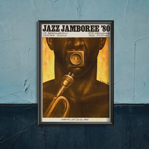 Plakaty w stylu retro Plakaty w stylu retro Festiwal Jazz Jamboree w Warszawie