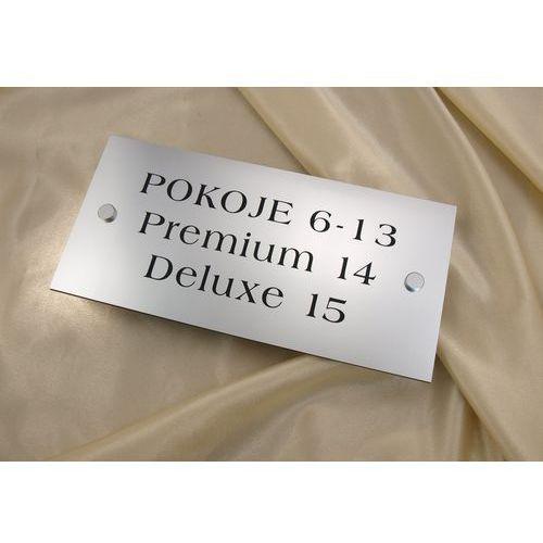 Tabliczki informacyjne - pokoje i apartamenty - SZ016a - wym. 250x120mm