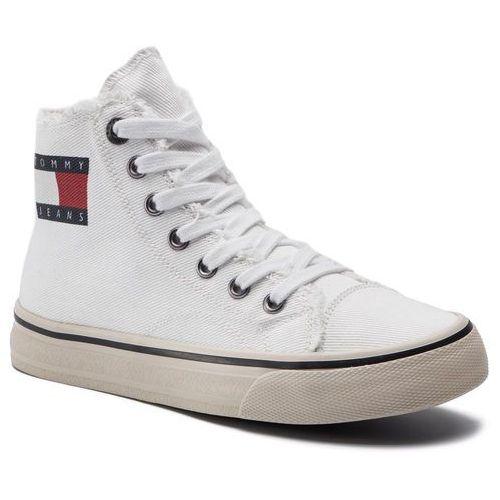 Sneakersy - hightop tommy jeans sneaker en0en00589 white 100, Tommy jeans, 38-41