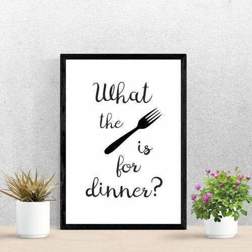Plakat what the fork is for dinner 244 marki Wally - piękno dekoracji