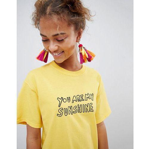 ASOS DESIGN Statement Festival Pom And Tassel Chandelier Earrings - Multi