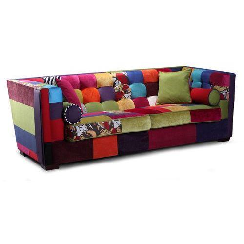 Estelia Desingerska sofa giulietta 3-os, skóra, eko-skóra, tkanina