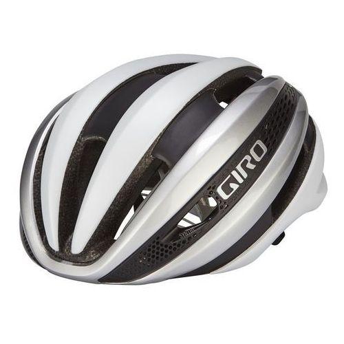 Giro Synthe MIPS Kask rowerowy biały/srebrny 51-55 cm 2018 Kaski rowerowe (0768686657511)