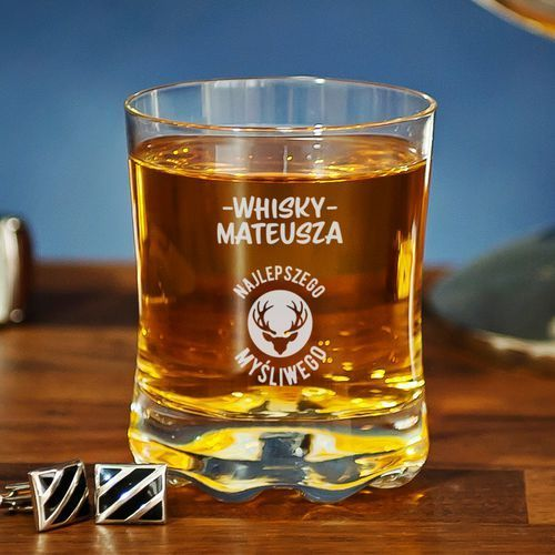 Whisky najlepszego myśliwego - szklanka do whisky - 4 sztuki marki Mygiftdna