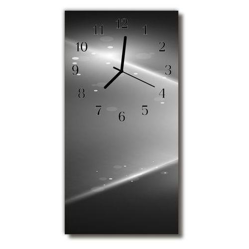Tulup.pl Zegar szklany pionowy sztuka abstrakcja grafika czarny