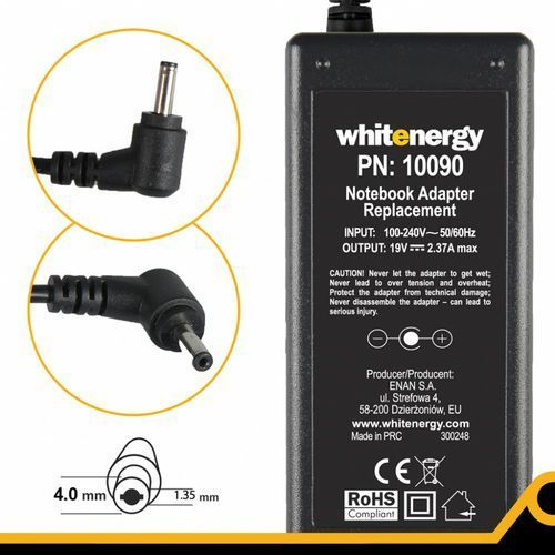 zasilacz ac do laptopa sony vaio vga vgn 19.5v 4.7a 6,0x4,4x9,5mm- produkt w magazynie! ekspresowa wysyłka! marki Whitenergy