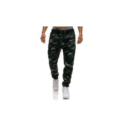 Spodnie męskie dresowe joggery moro-szare denley 2113, T&c star
