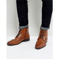 brogue boots in tan - tan marki Dune