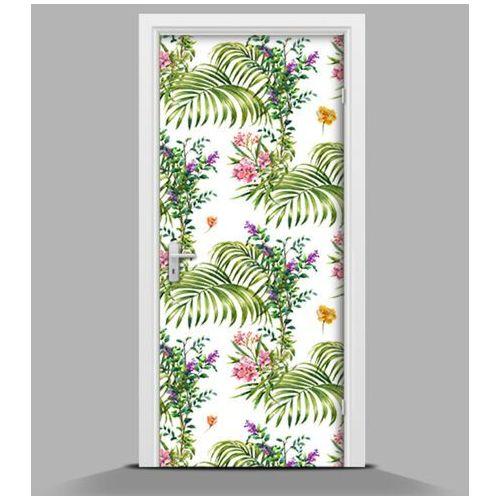 Okleina samoprzylepna na drzwi Delikatne kwiatki