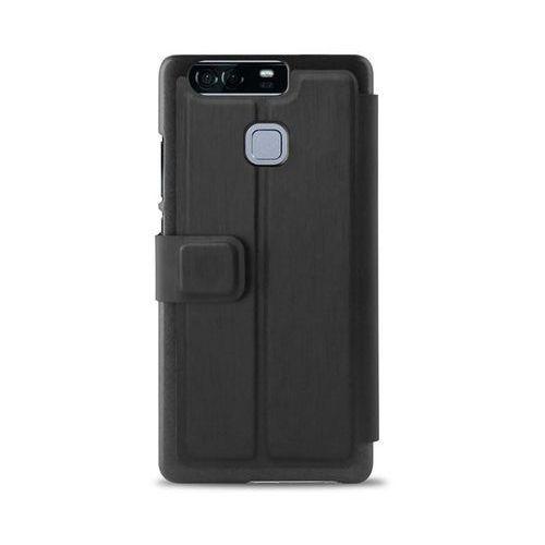PURO Booklet Wallet Case - Etui Huawei P9 z kieszenią na kartę + stand up (czarny)