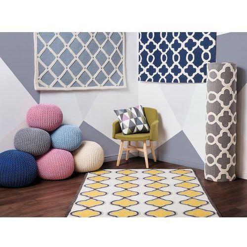 Dywan ciemnoniebieski - 140x200 cm - nowoczesny - handmade - zile marki Beliani