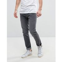 Solid Slim Fit Jeans In Mid Grey Wash With Stretch - Blue, slim
