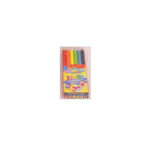 Patio Kredki ołówkowe jumbo 6 kolorów + temperówka (5907690833084)