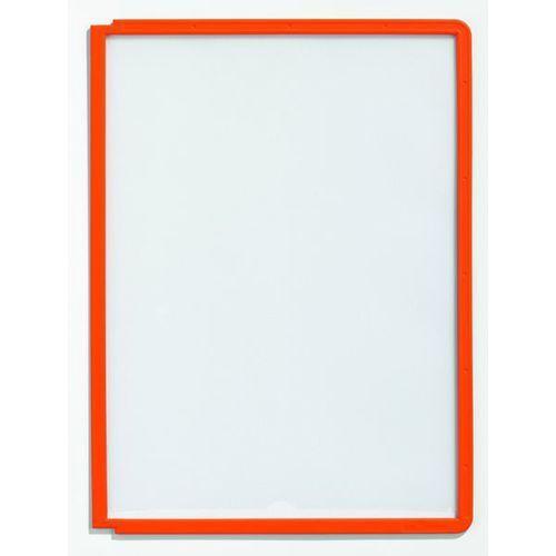 Durable Tablice przezroczyste z ramą profilowaną, do din a4, opak. 10 szt., pomarańczowy