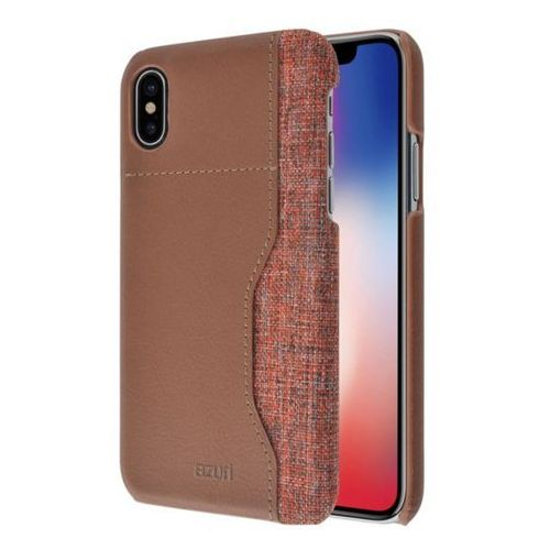 AZURI Elegante Mix Etui iPhone X brązowe (5412882715906)