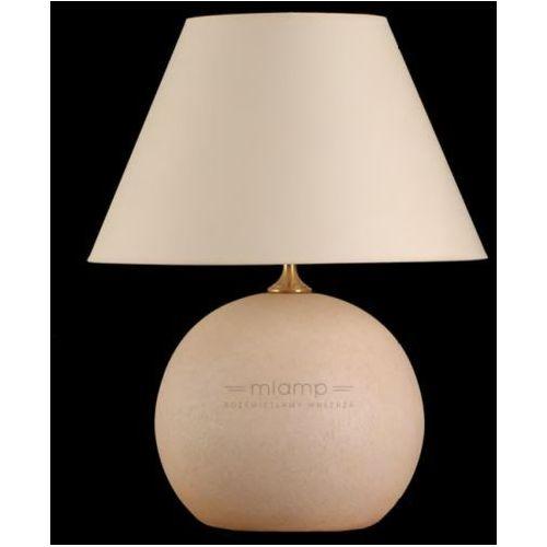 Mlamp Stołowa lampa stojąca led i beż abażurowa lampka nocna w stylu angielskim kula ball ecru beżowa (1000000243666)
