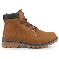 Buty do kostki botki męskie U.S. POLO - ZIGGY4126W8-56, kolor beżowy