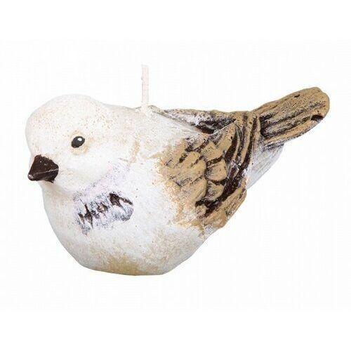 Świeczka dekoracyjna Ptaszek, beżowy, 678734