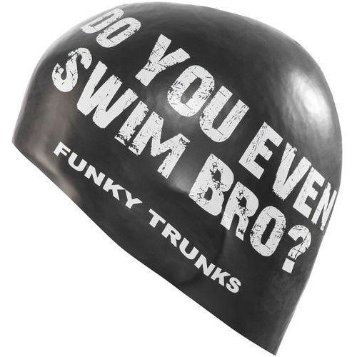 Funky trunks silicone swimming cap czepek pływacki mężczyźni biały/czarny 2018 czepki pływackie (9334722280886)