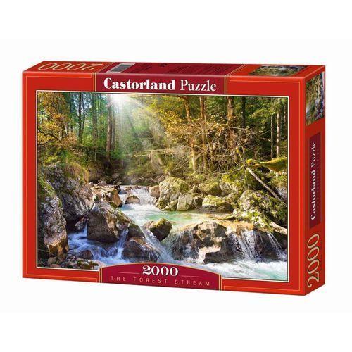 Puzzle 2000 strumyk w lesie marki Castor