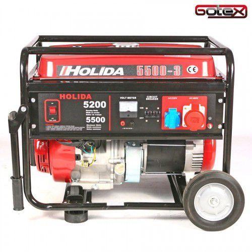 Agregat prądotwórczy, generator wm5500-3 trójfazowy 5,5 kw rozruch ręczny marki Holida