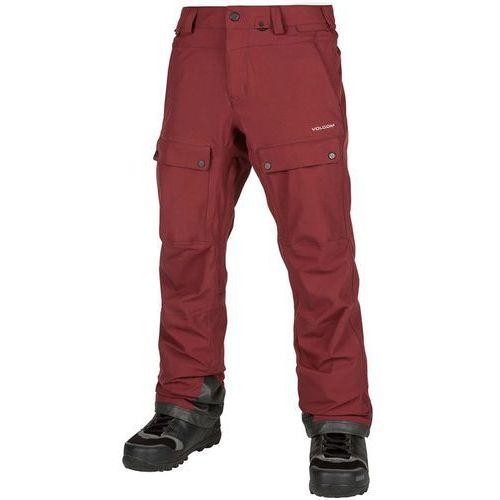 Volcom Spodnie - pat moore pant burnt red (btr) rozmiar: m