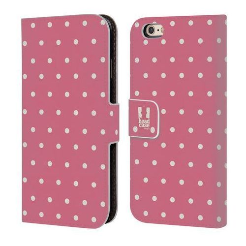 Etui portfel na telefon - French Country Patterns PINK DOTS, kolor różowy