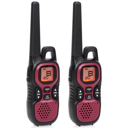 Tristar Radiotelefon topcom rc-6412 czarno-czerwony (8713016025579)