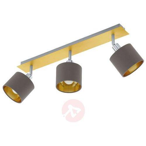 Eglo 97538 - Oświetlenie punktowe VALBIANO 3xE14/10W/230V, kolor Cappucino