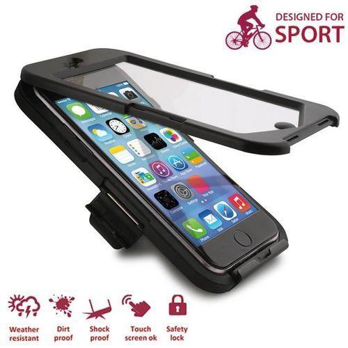 Puro Etui i uchwyt rowerowy  bike case w/ bike holder iphone 6 / 6s czarny
