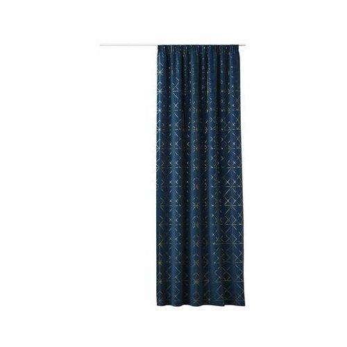 Zasłona glammy niebieska 140 x 250 cm na taśmie marki Action