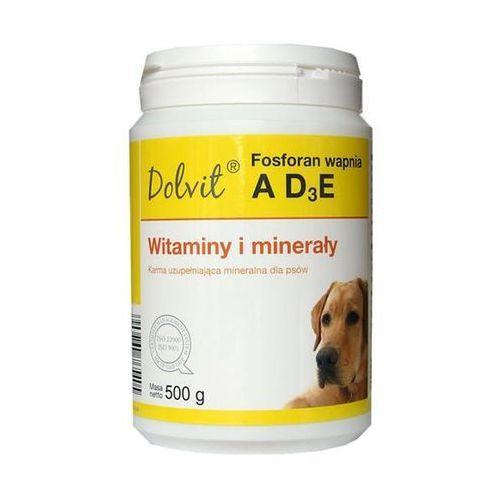 DOLFOS Dolvit Fosforan wapnia AD3E - preparat witaminowo - mineralny dla psów proszek 500g - 500g
