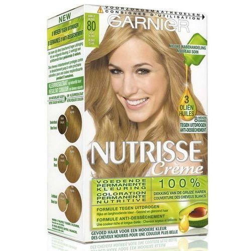 Garnier Nutrisse Creme. Farba do włosów, 80 Jasny naturalny blond - Garnier