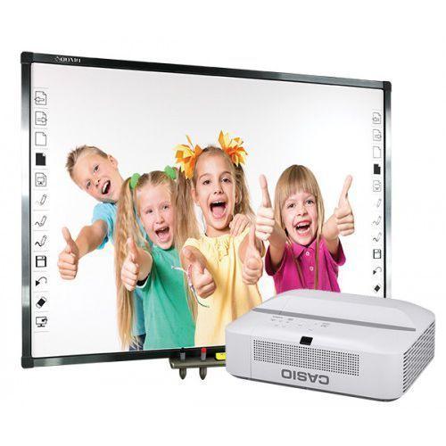 Tablica interaktywna Qomo QWB379BW z projektorem ultrakrótkoogniskowym Epson EB-670, 8B3A-243A8