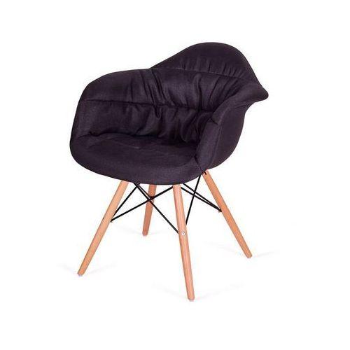 Tapicerowane krzesło Rugo Arm do jadalni na drewnianych nogach
