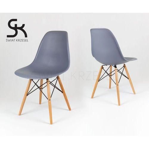 kr012 ciemnoszare krzesło buk - ciemnoszary \ drewno buk marki Sk design