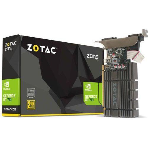 Karta graficzna Zotac GT 710 ZONE Edition 2GB DDR5 (64 bit), DVI-D, HDMI, VGA, BOX (ZT-71307-20L) Darmowy odbiór w 21 miastach!