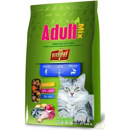 VITAPOL Karma Dla Kotów Adult 0,4 kg- RÓB ZAKUPY I ZBIERAJ PUNKTY PAYBACK - DARMOWA WYSYŁKA OD 99 ZŁ
