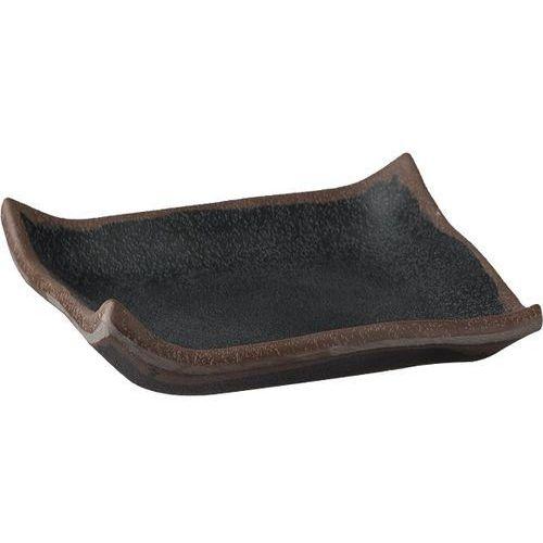 Aps Półmisek kwadratowy z melaminy 145x145x20 mm, czarny | , marone