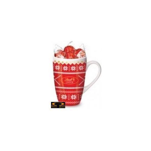Lindt Zestaw  lindor milk nostalgic cup czerwony 125g
