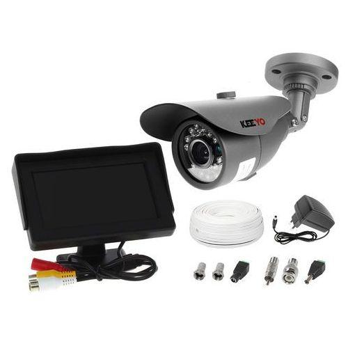 "Zestaw do monitoringu: kamera lv-al20mt, monitor 4,3"", zasilacz, przewód, podgląd na monitorze marki Ivelset"
