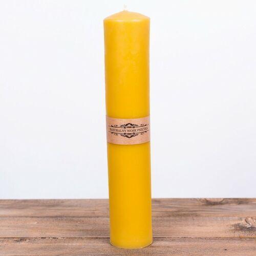 Świeca woskowa gromnica duża (430 mm / 55 mm) Łysoń (5906660814733)
