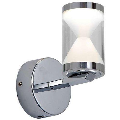 Milagro Kinkiet lampa ścienna tiempo 0306 oprawa tuba klepsydra led 5w chrom biała