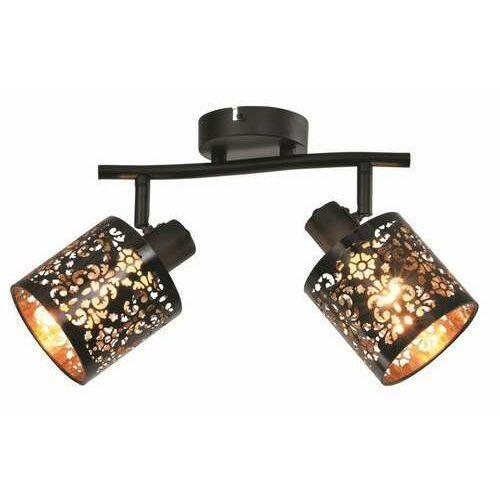 Reality kiga 830802-02 listwa plafon lampa sufitowa spot 2x40w e14 czarna (5906737304631)