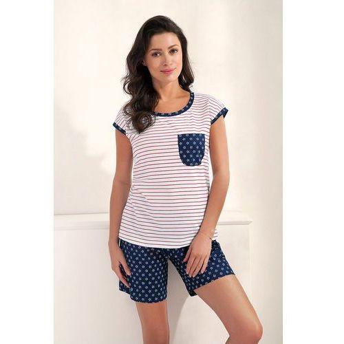 Piżama Luna 529 S-XL kr/r S, granatowy-paski. Luna, S, XL, 5902080529127