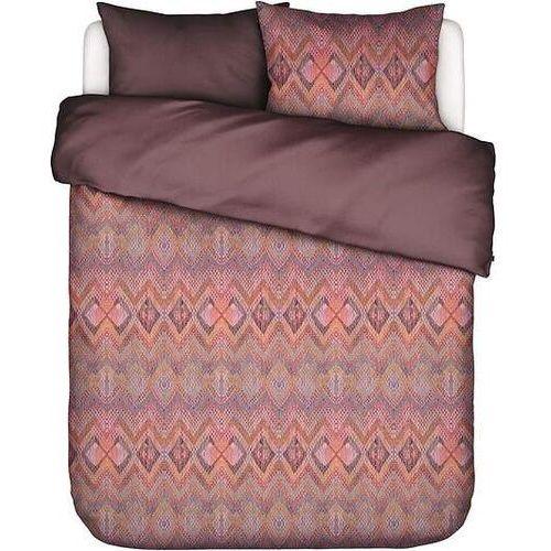 Essenza Pościel fabienne 200 x 200 cm czerwono-brązowa z 2 poszewkami na poduszki 80 x 80 cm